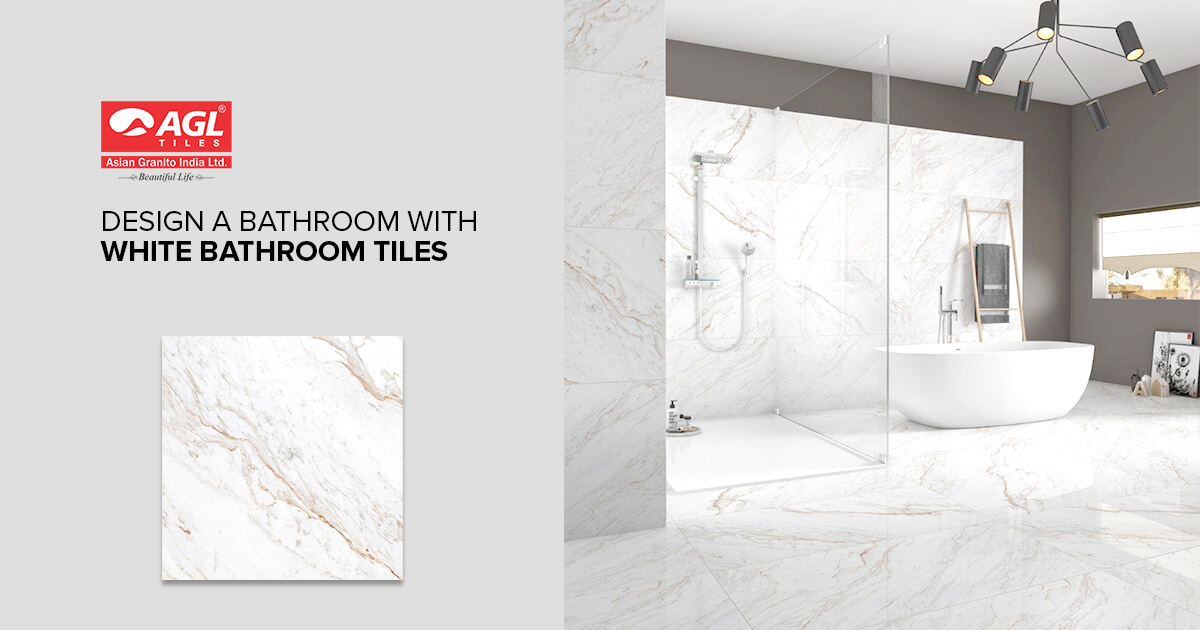 How to Design a Bathroom with White Bathroom Tiles??