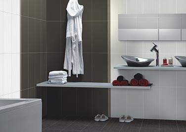 Diamond Silver Bathroom tiles