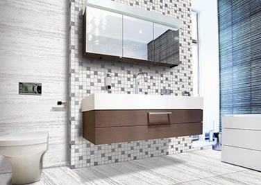 Different shades of Bathroom tiles