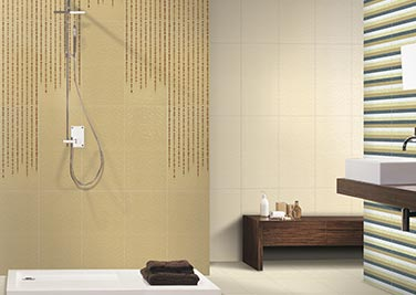 Warming brown Bathroom tiles