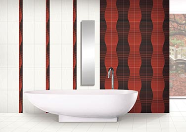Classic Red Bathroom tiles