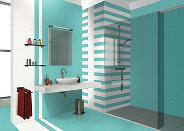 Nature blue Bathroom tiles