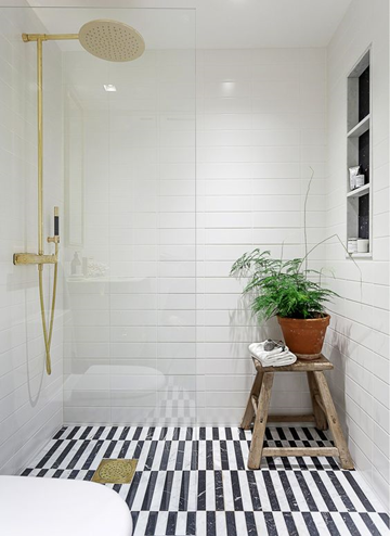 Chic Floors Regular Laying Pattern Created By Using Standard Black And White Tiles