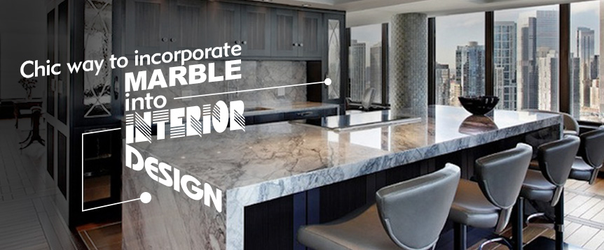 Marble into interior design
